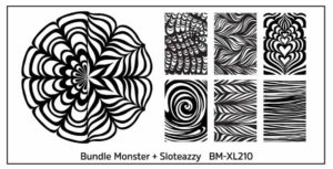Bundle monster + Stoleazzy BM XL 210 water marble stampingplate