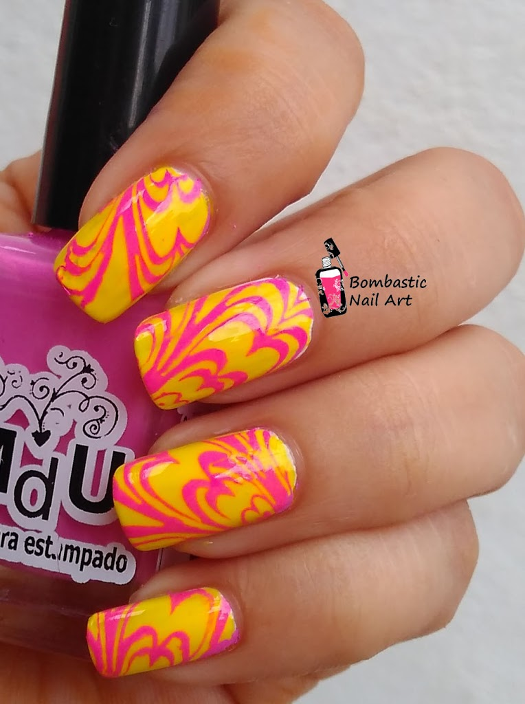 How To Cheat Water Marble Nail Art Review Of Born Pretty
