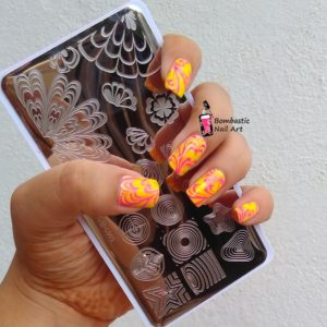 Water Marble Cheat Nail Art