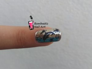 Dolphin Star Chrome Nails
