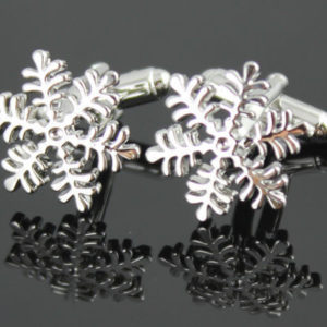 Stainless Steel Snowflake Cufflinks Vintage Men's Wedding Xmas Gift Cuff Links