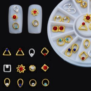 24 pcs Charm 3D Nail Art Crystal Alloy DIY Decoration Rhinestones Manicure Accessories