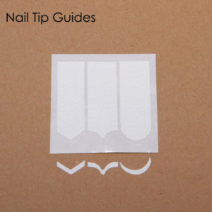 2 PACK VYC Nail Art French Manicure Tip Guides Sticker Style Stencil