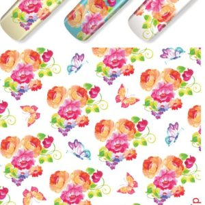 N587 Big Flower Lace Nail Art Stickers Water Transfer Slider Decals Latest
