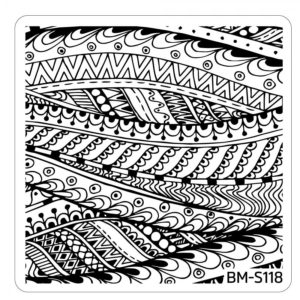 BUNDLE MONSTER Paisley Flow Nail Art Manicure Stamping Plates Collection S118