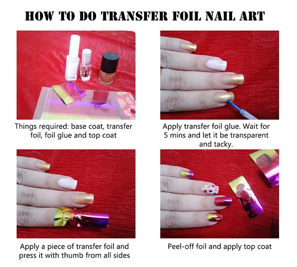 How to apply transfer foil for nail art