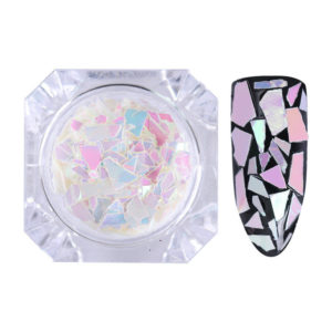BORN PRETTY Nail Flakes Sequins Paillette Irregular Colorful Pink White Tips