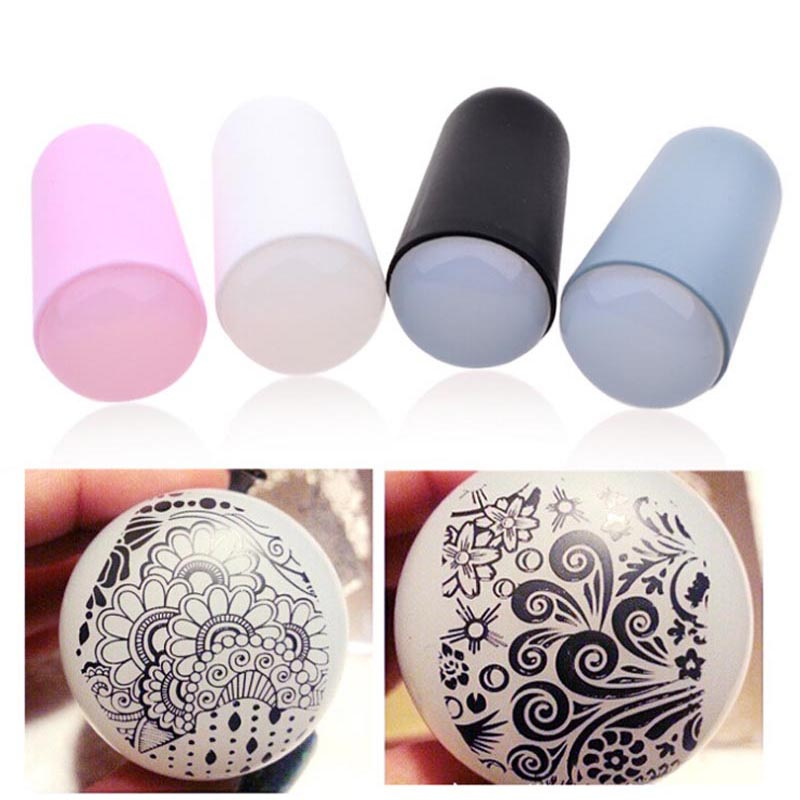3cm Pink Nail Art Silicon Squishy Stamping Tool Marshmallow Nail ...