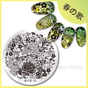 Born Pretty Stamping Nail Art Round Big Harunouta 5.5 cm Image Plate Collection