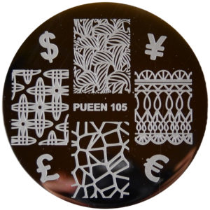 Pueen Stamping Nail Art Round Big Image Plate 24 M Make Your Day Collection 105