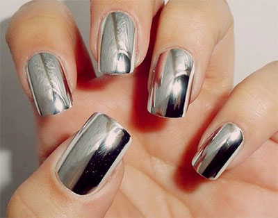 1g born pretty metallic mirror powder silver nail art chrome amazing silver mirror nail art designs ideas 2017 prinsesfo Image collections
