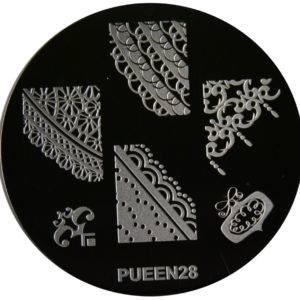 Pueen Stamping Nail Art Round Big Image Plate 24E Love Elements Collection 28