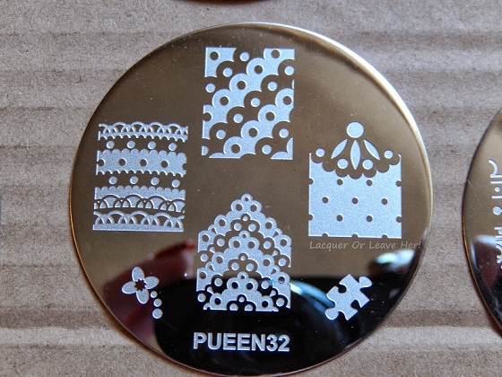 Pueen Stamping Nail Art Round Big Image Plate 24E Love Elements Collection 32