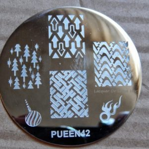 Pueen Stamping Nail Art Round Big Image Plate 24E Love Elements Collection 42