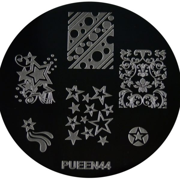 Pueen Stamping Nail Art Round Big Image Plate 24E Love Elements Collection 44