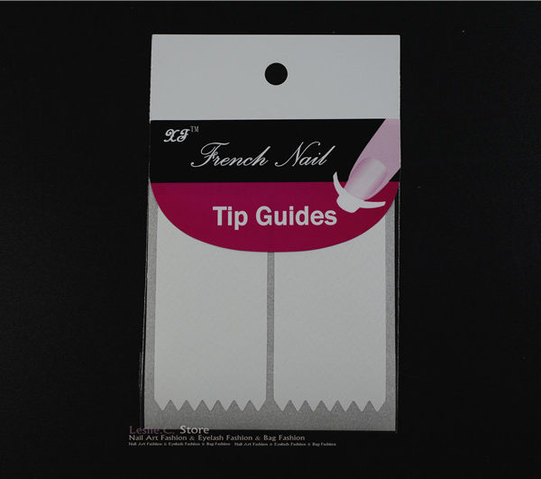 2 PACK Zig Zag Chevron Nail Art Tip Guides Sticker Style Stencil