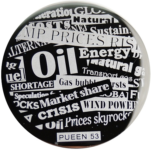 Pueen Stamping Nail Art Round Big Image Plate 24B Buffet Collection 53