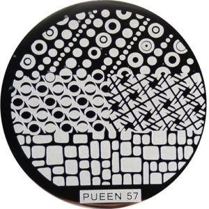 Pueen Stamping Nail Art Round Big Image Plate 24B Buffet Collection 57