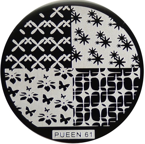 Pueen Stamping Nail Art Round Big Image Plate 24B Buffet Collection 60
