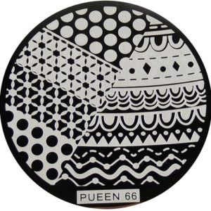 Pueen Stamping Nail Art Round Big Image Plate 24B Buffet Collection 66
