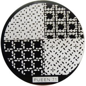 Pueen Stamping Nail Art Round Big Image Plate 24B Buffet Collection 71