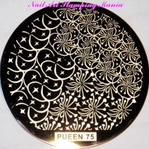 Pueen Stamping Nail Art Round Big Image Plate 24B Buffet Collection 75