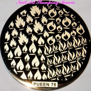 Pueen Stamping Nail Art Round Big Image Plate 24B Buffet Collection 78
