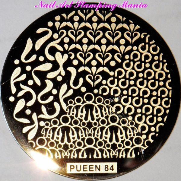 Pueen Stamping Nail Art Round Big Image Plate 24B-l Buffet Collection 84
