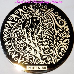 Pueen Stamping Nail Art Round Big Image Plate 24B-l Buffet Collection 88