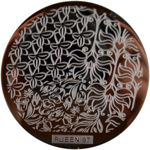 Pueen Stamping Nail Art Round Big Image Plate 24B-l Buffet Collection 97