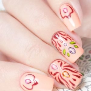 Bombastic nail art where nails meet art b11 outline flower lace stone nail art stickers water transfer slider decals latest prinsesfo Gallery
