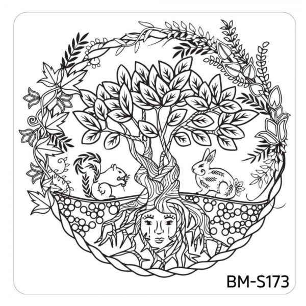 10pc-nature-themed-nail-stamp-plates---mystic-woods-set-1 BM-S173