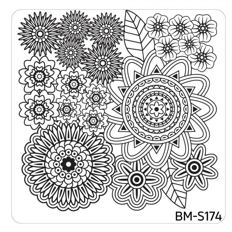 BUNDLE MONSTER SQUARE NAIL ART STAMPING PLATE MYSTIC WOODS SET 1 ...