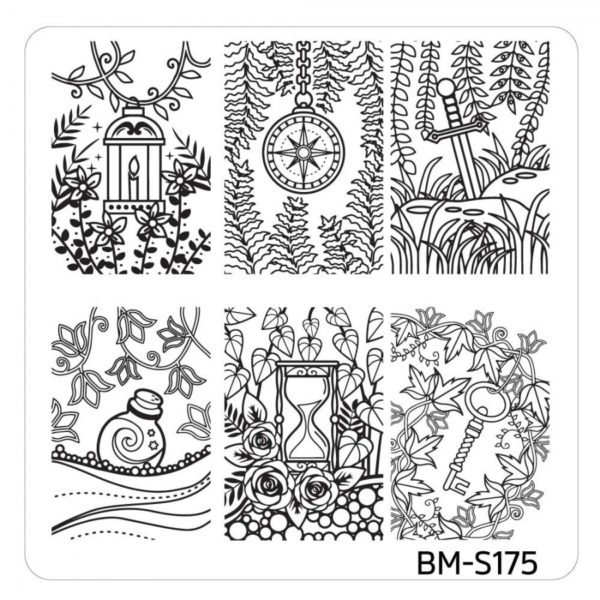 10pc-nature-themed-nail-stamp-plates---mystic-woods-set-1 BM-S175