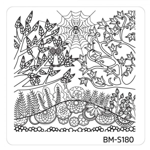 10pc-nature-themed-nail-stamp-plates---mystic-woods-set-1 BM-S180