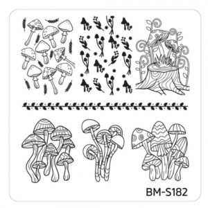 10pc-nature-themed-nail-stamp-plates---mystic-woods-set-2 BM-S182