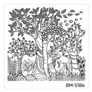 10pc-nature-themed-nail-stamp-plates---mystic-woods-set-2 BM-S184