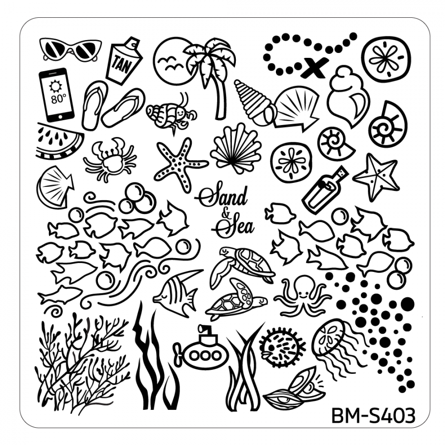 10pc Hangloose Collection Themed Nail Stamp Plates