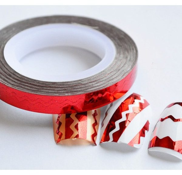 RED Chevron Zig Zag Striping Tape