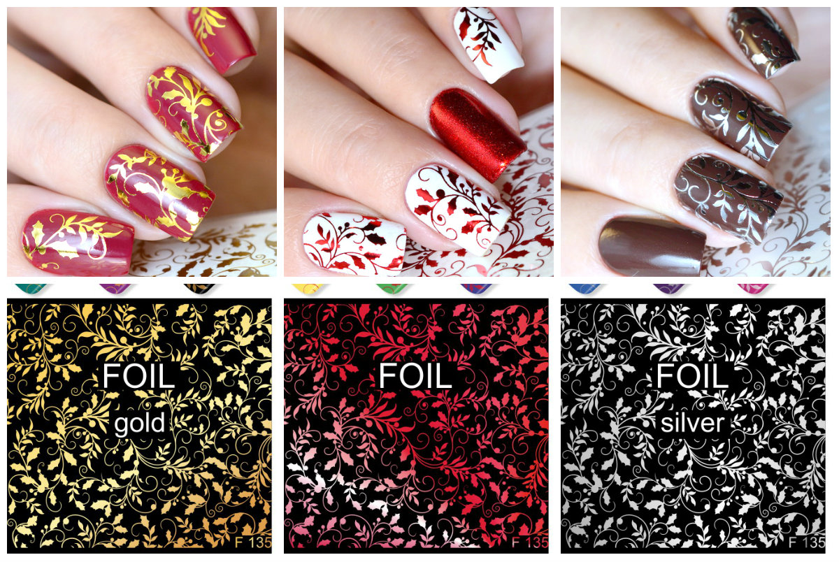 Foil Nail Art Water Decals Sliders