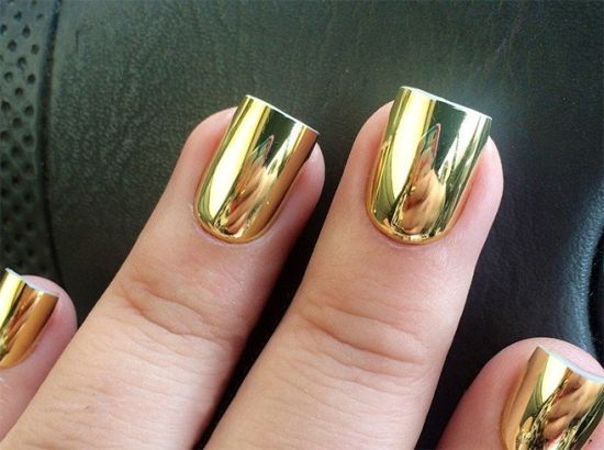 Amazing Gold Mirror Nail Art Designs Ideas 2017