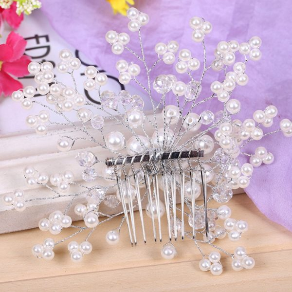 Beautiful-Elegant-Women-Ladies-Floral-Wedding-Pearl-Crystal-Bridesmaid-Bridal-Party-Hair-Comb-Hairpin-Jewelry-Hair