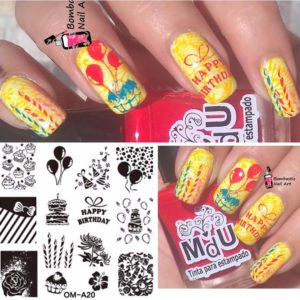 Stamping Nail Art Rectangular Big Image Plate 6*12cm Lace Flowers Template BC-13