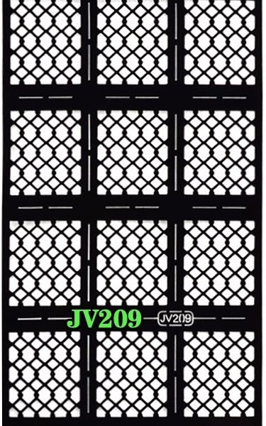 Fish Scale Check Pattern Stencils Guide Hollow Vinyl Sticker DIY Nail Art Tool JV209