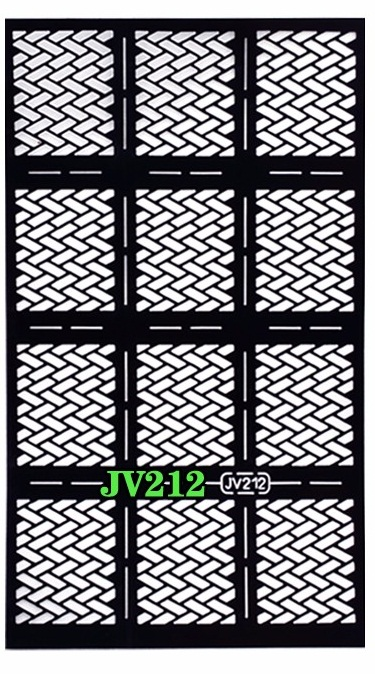 Fish Scale Check Pattern Stencils Guide Hollow Vinyl Sticker DIY Nail Art Tool JV212
