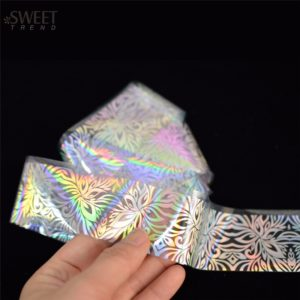 LASER Holographic Flower Lace Nail Art Transfer Foil