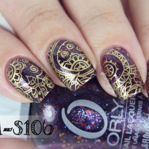 Bundle Monster Abstract Themed Square Nail Stamping Plate Shangri-La Master S106