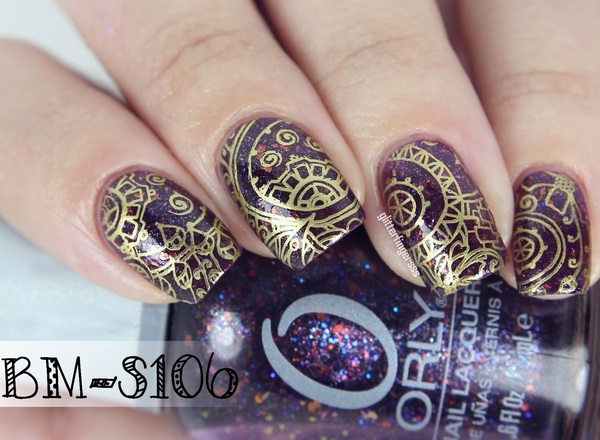 Bundle Monster Abstract Themed Square Nail Stamping Plate Shangri La
