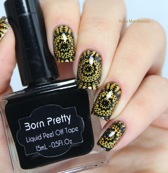 Black Born Pretty 15 Ml Stamping Nail Polish Art New Sweet Color