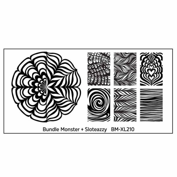 Blogger Collaboration Nail Art Water Marble Stamping Plate - BM-XL210, Sloteazzy